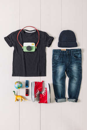 Outfit of hipster boy. photo