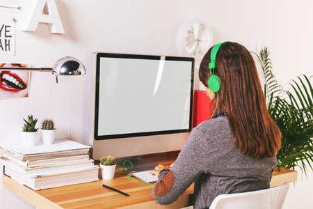 Desk of creative worker.  Stock fotó