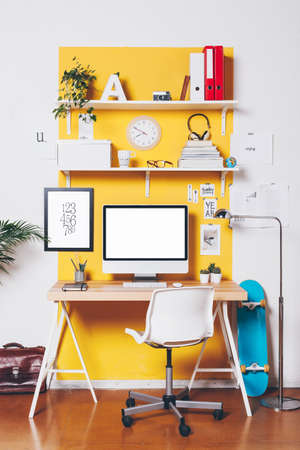 Office workplace with computer.