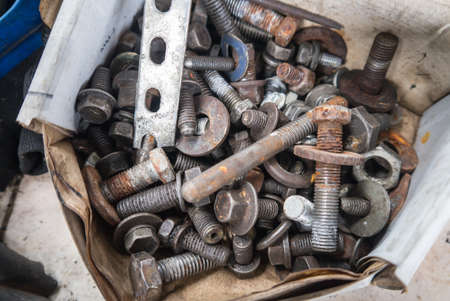 anywhere: Rusty screw can be found anywhere in your equipment if you did not maintenance it well Stock Photo