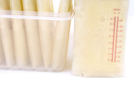 Frozen milk storage bags
