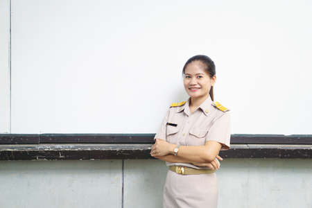 Thai teachers in official uniform