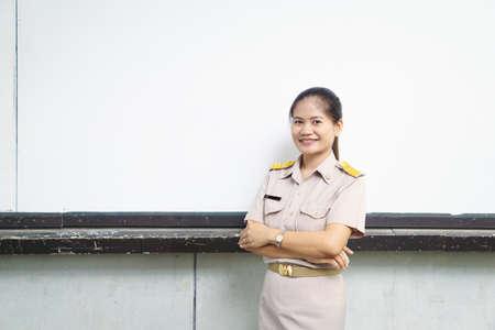 Thai teachers in official uniform Фото со стока