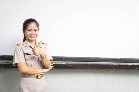 official: Thai teachers in official uniform