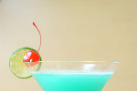blue dragon: Blue dragon cocktail on wooden background Stock Photo