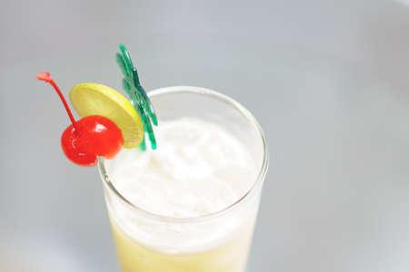 pina: Classic Pina Colada cocktail with light rum Stock Photo