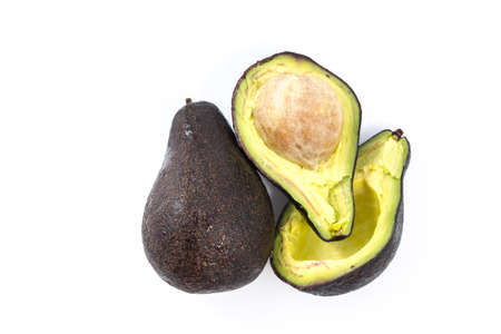 hass: Avocado isolated on a white background