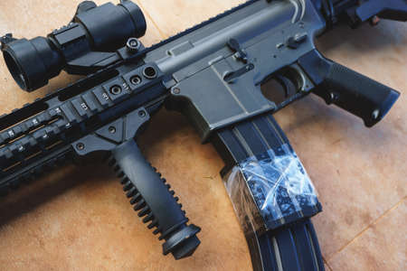 M16: Custom air soft gun using for sport