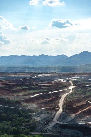 Wide open pit coal mine