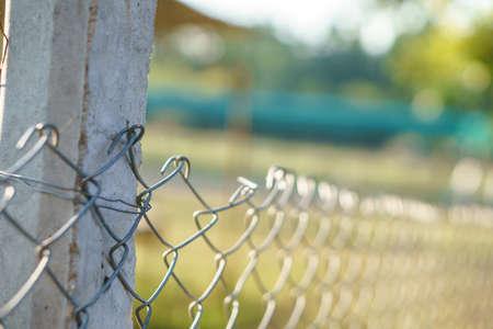 Wire steel fence in animal farm of Asian country