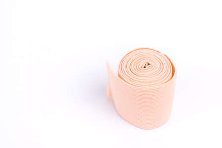 splint: Fabric tape bandage for preventing painful joint on white background