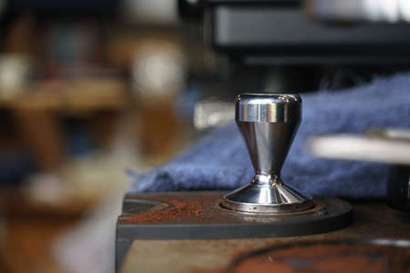 Portafilter tamper tamping for coffee shop
