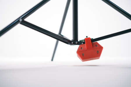 Studio light tripod or stand with steel counterweight