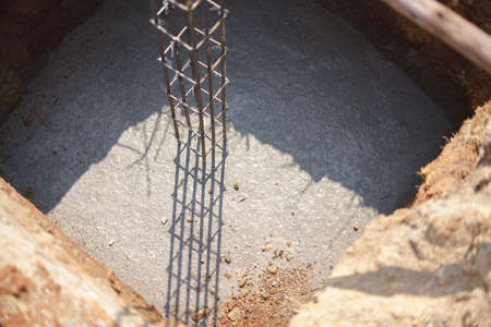 Rustic rebar for reinforced steel bar in square shape for concrete structure in house construction
