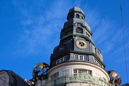 An unusual clock tower in Vienna