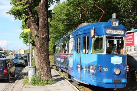 Vintage Tram in Gmunden, Austria