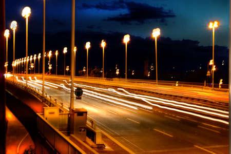 Rush Hour Traffic on the Blue Danube Bridge