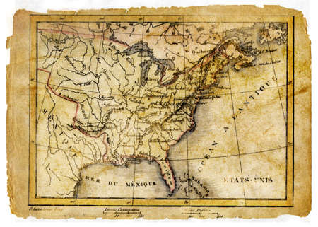 ancient map of USA photo