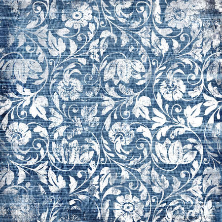 shabby fabrics with floral patterns Stock Photo