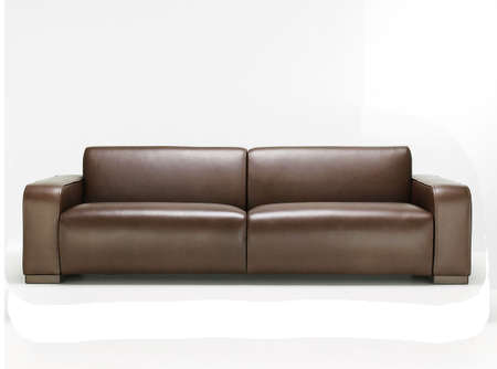 elegant brown leather sofa Stock Photo - 5099738