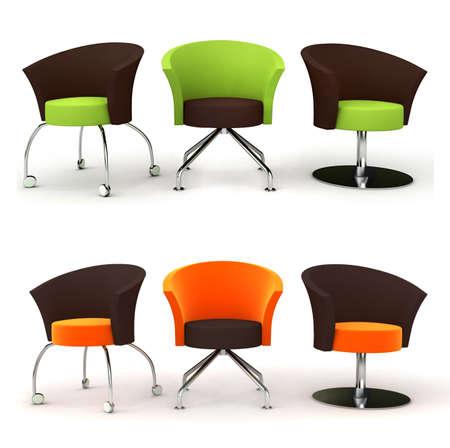 set of stylish chairs photo