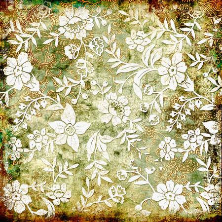 vintage floral paper photo