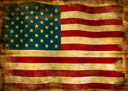 old american flag photo