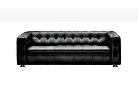 black leather sofa photo