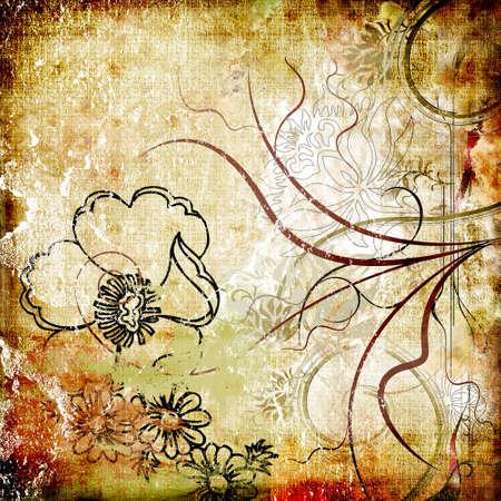 vintage floral paper