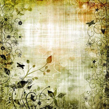 vintage framed floral paper Stock Photo - 5110758