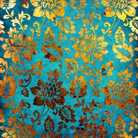 turquesa de papel de oro Foto de archivo - 5110769