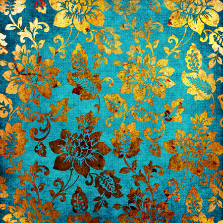 turquoise: turquoise-golden paper