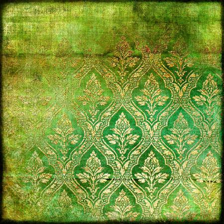 vintage gren- golden paper photo