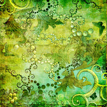 nice green abstract oriental background Stock Photo