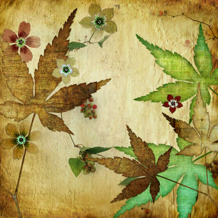 leafy paper background