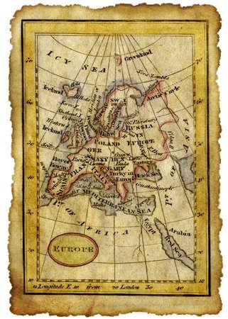 brujula antigua: Mapa de la antigua Foto de archivo