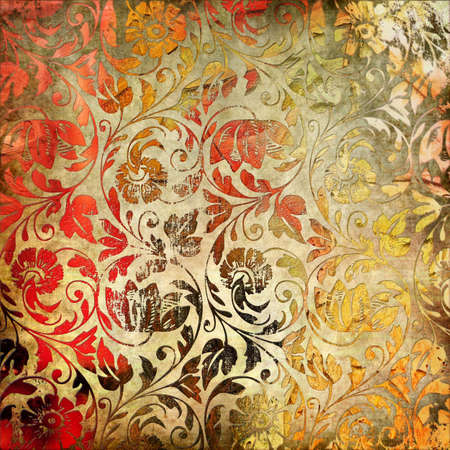 nice decorative floral paper in retro style photo