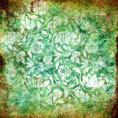 vintage paper with floral patterns