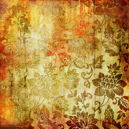 nice vintage paper with floral patterns