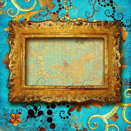 golden antique frame