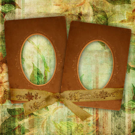 paperboard: vintage background with frames Stock Photo