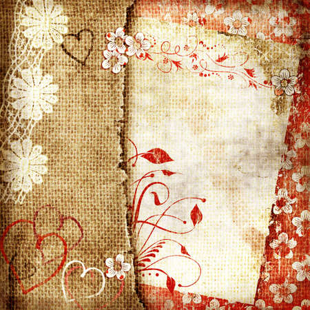grunge vintage background with blank page Stock Photo