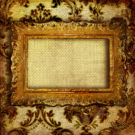 retro background with antique frame