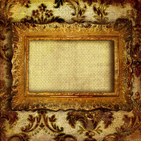 retro background with antique frame