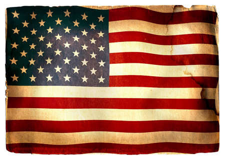 vintage flag of USA