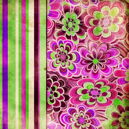 vintage floral wallpaper Stock Photo - 5135377