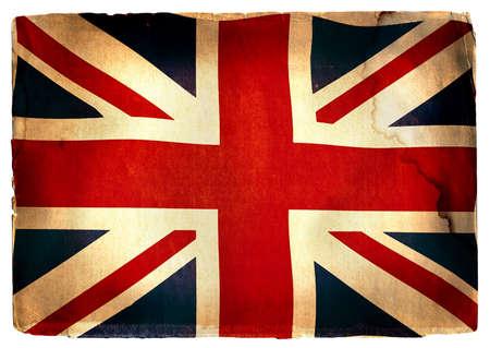 gb: flag of England - vintage style