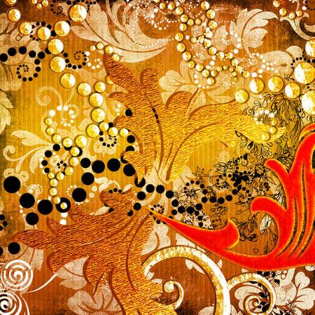 beautiful golden bavground Stock Photo
