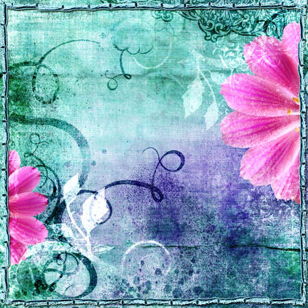 decorative vintage floral paper
