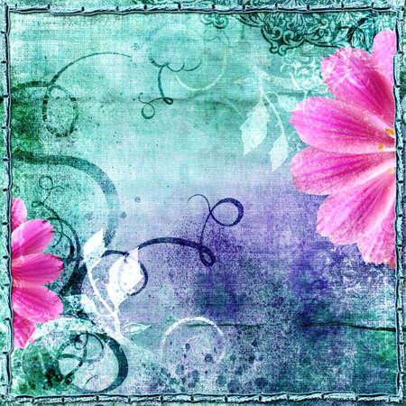 decorative vintage floral paper